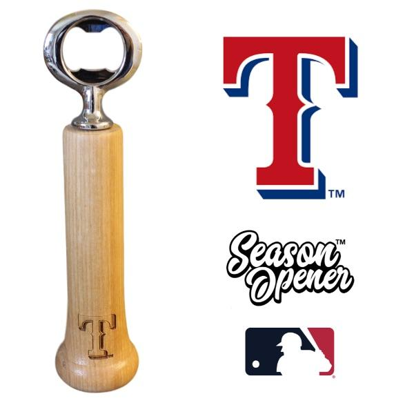 Texas Rangers T bat handle bottle opener