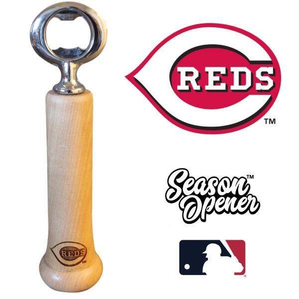 Cincinnati Reds bat handle bottle opener