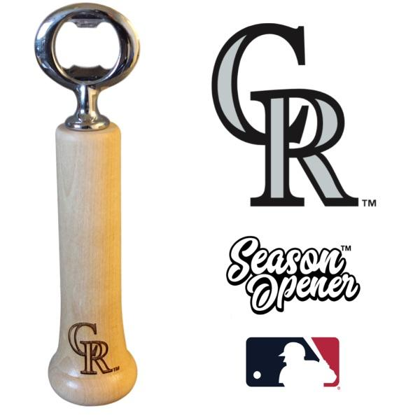 Colorado Rockies Bat Handle Bottle Opener Baseball Gift