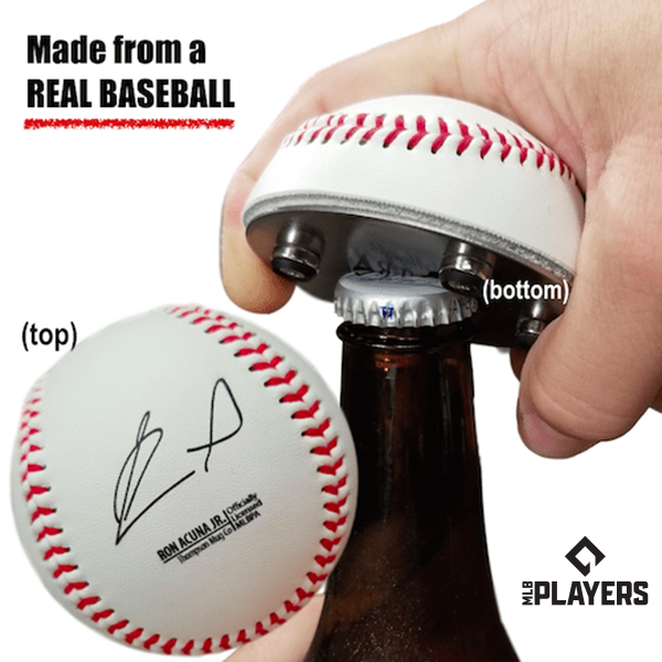"The ""Cutter"" Signature Series - Half Baseball Bottle Opener - Ronald Acuna Jr Signature Series The ""Cutter"""