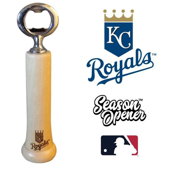 Kansas City Royals bat handle bottle opener
