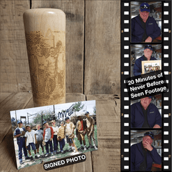 Legends Never Die Baseball Bat Mug and Autographed Photo