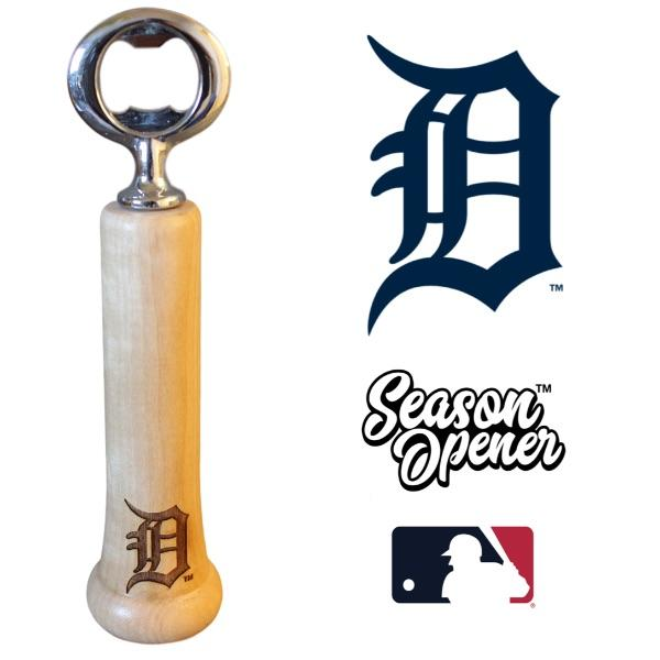 Detroit Tigers Bat Handle Bottle Opener Baseball Gift