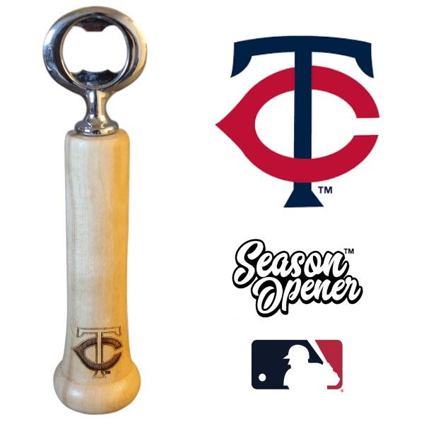 Minnesota Twins Bat Handle Bottle Opener Baseball Gift