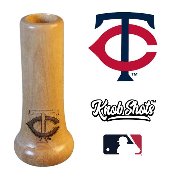 bat knob shot glass Minnesota Twins TC