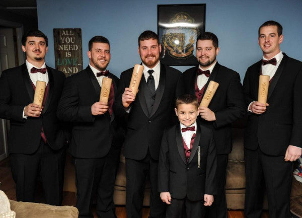 groomsmen and their Dugout Mugs