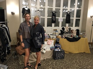 friends hosting a pop-up boutique party