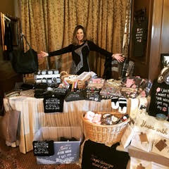 woman hosting a pop up boutique