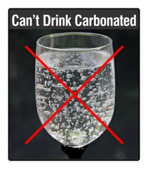 Carbonation doesn't work with most straw lids