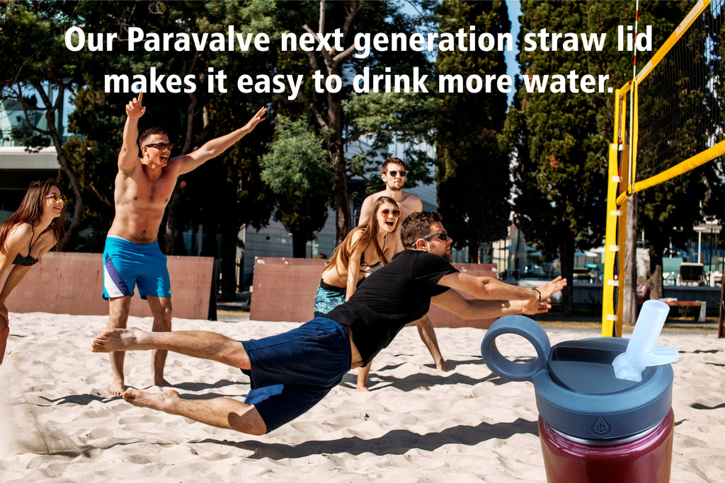 Paravalve Next Generation Straw lid makes it easy to drink more water