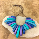 Berry Turquoise Azuline Wood Necklace