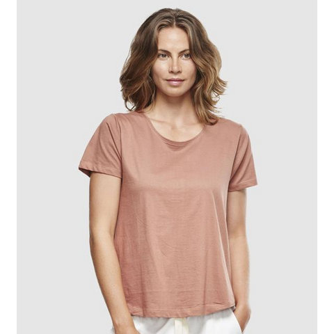 Organic Cotton Crew Neck Tee - Cedar