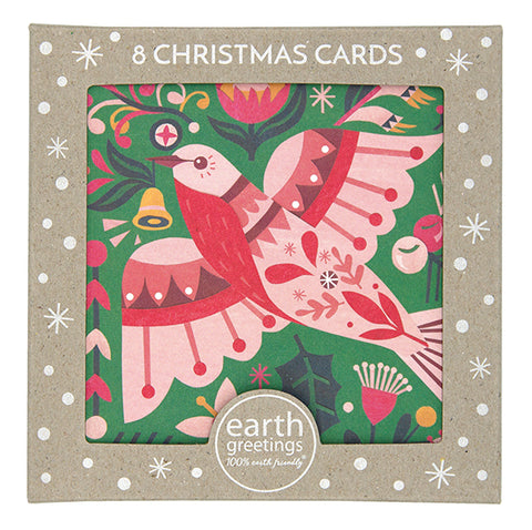 Flame Robin Christmas Cards - Box of 8