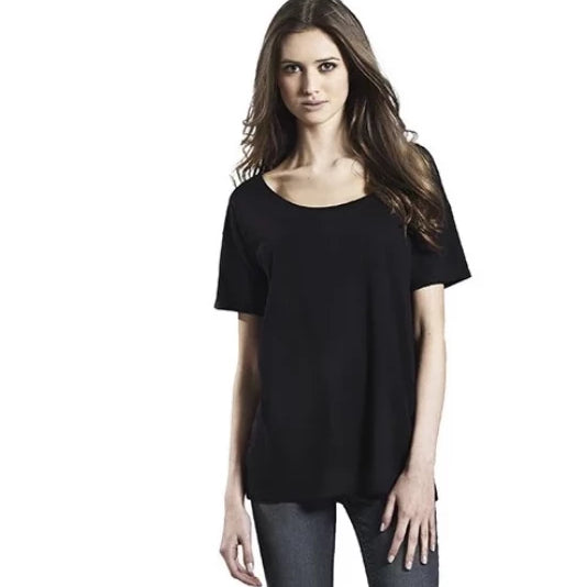 Organic Cotton & Tencel Relaxed Tee - Black