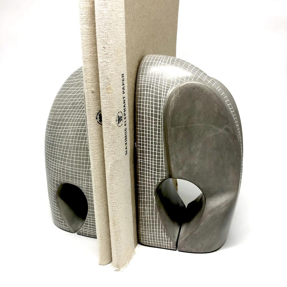 Elephant Bookends - Natural