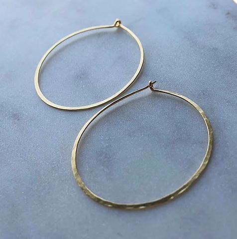 Spirited Fine Gold Hoops