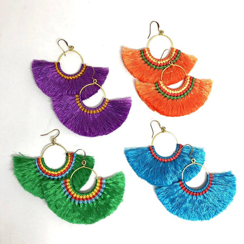 Hmong Tassel Earrings