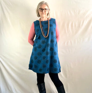 Sleeveless Circle Dress - Indigo