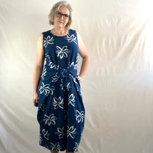 Load image into Gallery viewer, Lotus Indigo Tie Dress