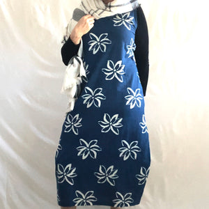 Lotus Indigo Tie Dress