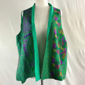 Sleeveless Silk Vest