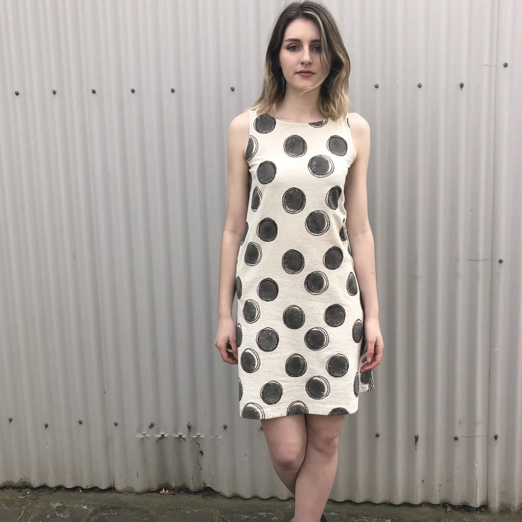Sleeveless Circle Dress - Cream