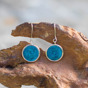 Sisal Silver Earrings