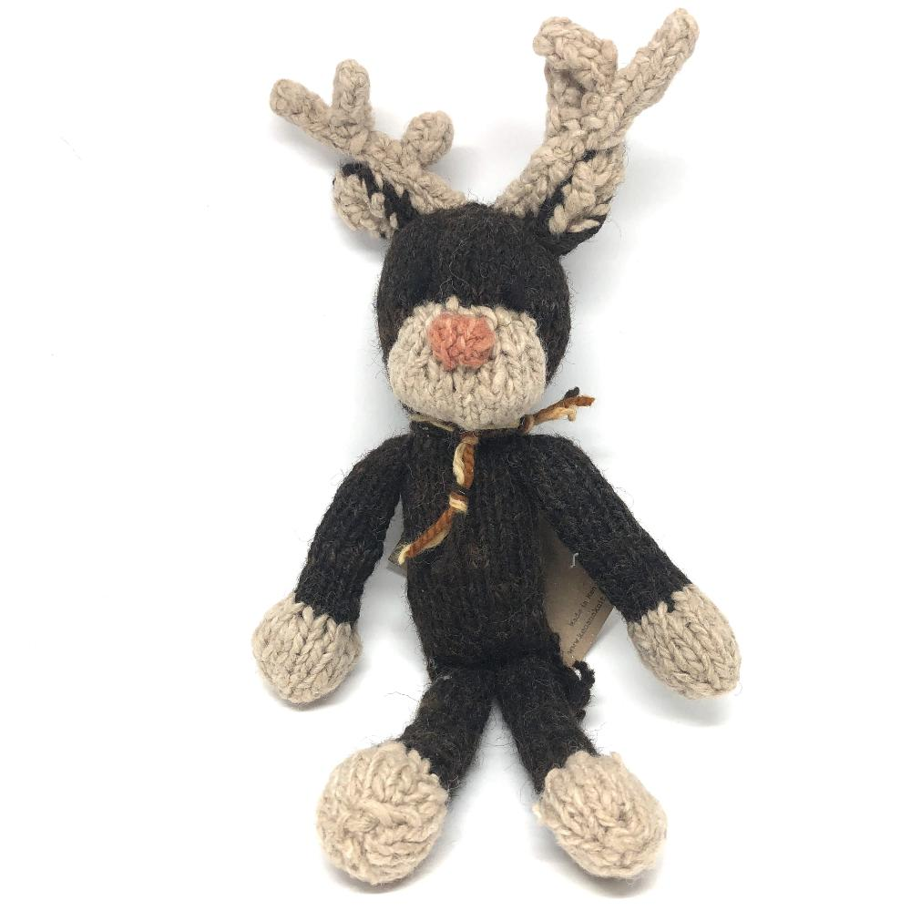 Knitted Wool Reindeer