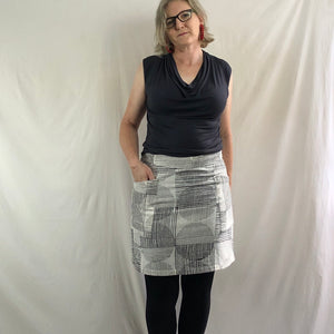 A-line Circles Skirt - Monochrome