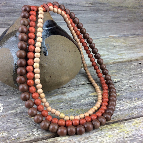 Natural Wood Lolita Necklace