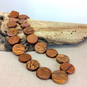 Natural Palmwood Long Necklace