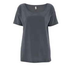 Load image into Gallery viewer, Organic Cotton & Tencel Relaxed Tee - Charcoal - L Only