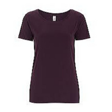 Load image into Gallery viewer, Organic Cotton Tee - Eggplant