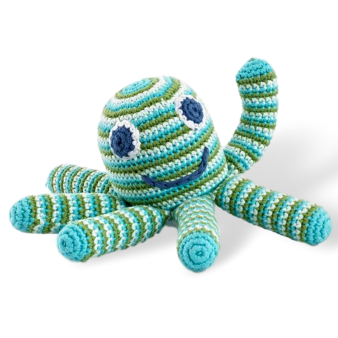 Octopus Rattle - Green