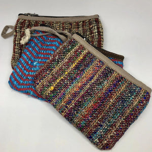 Silk & Hemp Zip Purse - Small