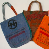 Upcycled Rice Bag Tote - Var. Colours