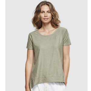 Organic Cotton Crew Neck Tee - Sage Slub
