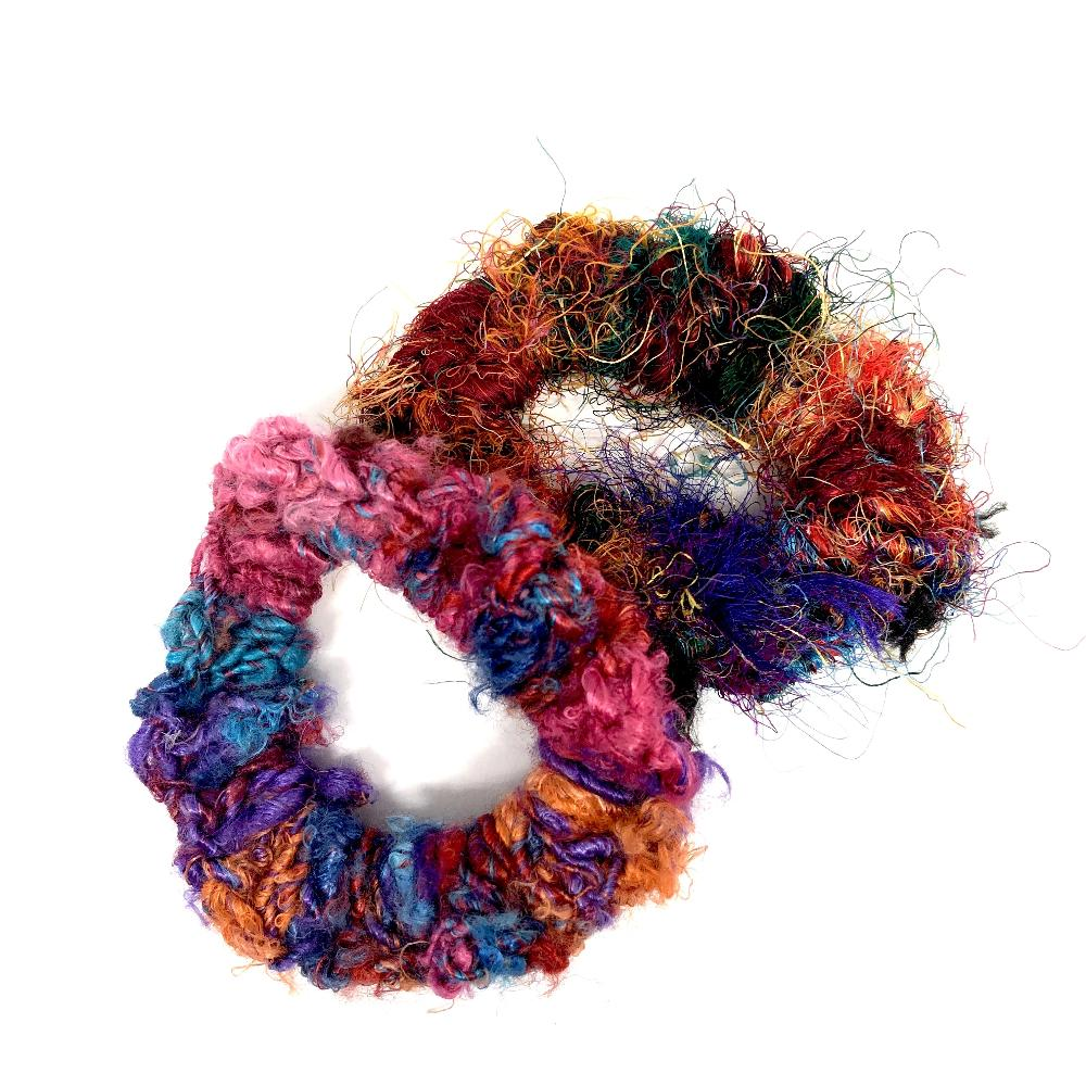 Sari Silk Scrunchy - Set of 5