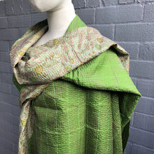 Load image into Gallery viewer, Kantha Stitch Silk Shawl