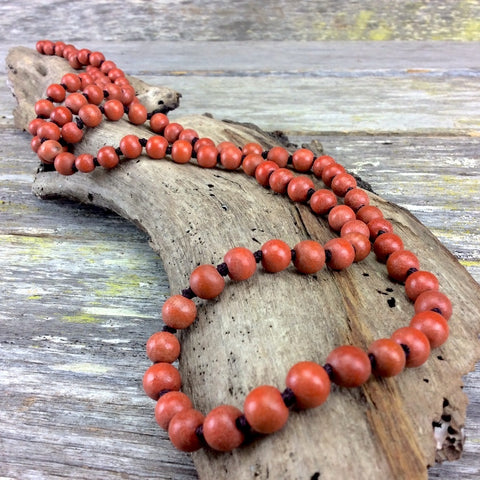 Single Strand Wood Necklaces