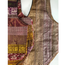 Load image into Gallery viewer, Upcycled Sari Silk Braid Tote Bag - Var. Colours