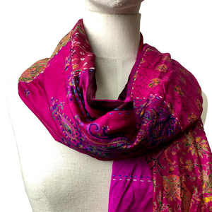 Silk Patchwork Scarf - Var. Colours