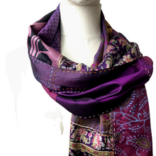 Load image into Gallery viewer, Silk Patchwork Scarf - Var. Colours