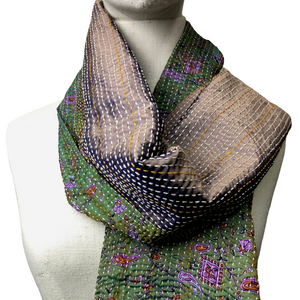 Silk Stitched Scarf - Var. Colours