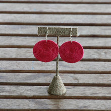 Load image into Gallery viewer, Sisal Circle Earrings