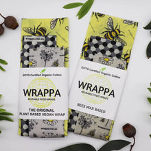 Load image into Gallery viewer, Organic Cotton Beeswax Food Wraps - Busy Bees