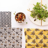 Organic Cotton Beeswax Food Wraps - Busy Bees