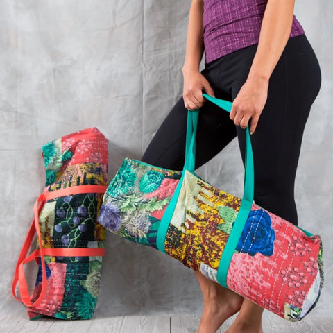 Yoga Bag - Kantha Stitch