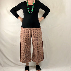 Dotty Layered Pants - Catechu