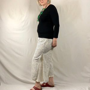 Dotty Layered Pants - Natural